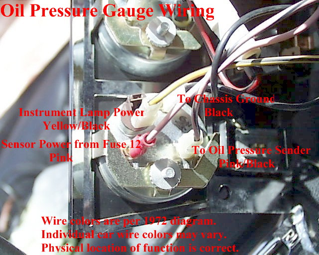 Oil Pressure Gauge Wiring electrical diagrams sunpro fuel gauge wiring diagram at bakdesigns.co