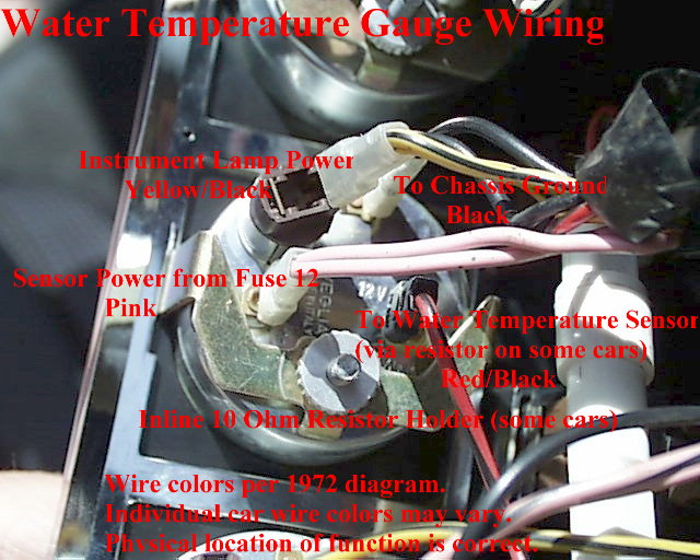 Water Temp Gauge Wiring electrical diagrams Wire Gauge Amp Chart at soozxer.org