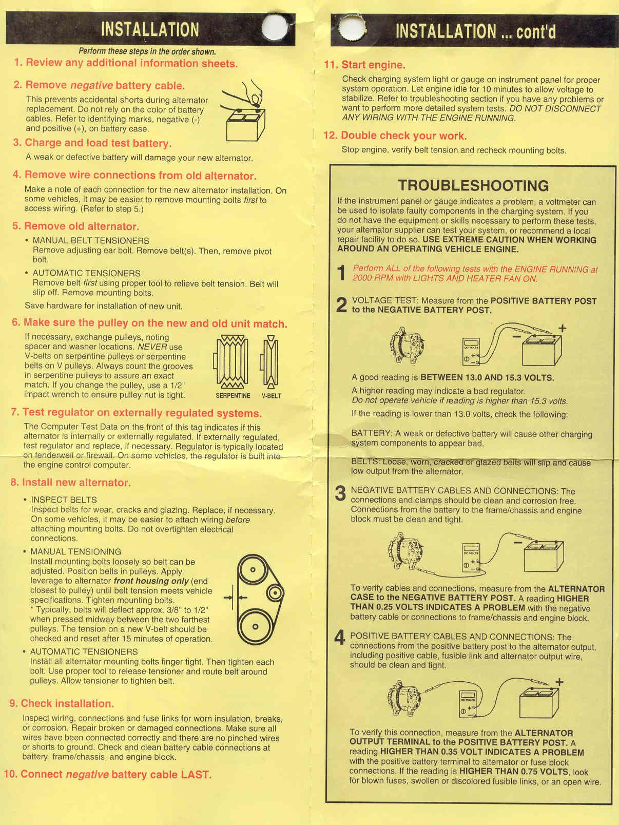 Changing The Alternator Amp Gauge Mounting Problems Note